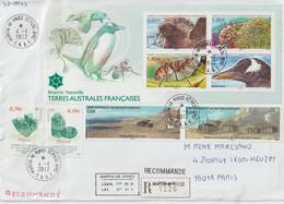 TAAF Lettre Recommandée 2012 Pour La France Cachet Martin De Vivies-St Paul AMS - Cartas