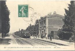 CPA Le Breuil-en-auge La Gare Ligne De Trouville - Francia