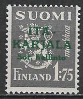 Karelia 1941. Scott #N9 (M) Arms Of The Republic - Local & Private