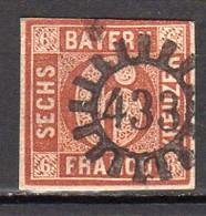 Bavière Oblitéré N° 5 Lot 2 - Bayern (Baviera)