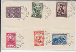 GREAT UNION CELEBRATIONS SPECIAL POSTMARKS AND STAMPS ON PAPER, 1929, ROMANIA - 1918-1948 Ferdinand, Charles II & Michael