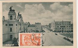 CLUJ NAPOCA STATE THEATRE, CAR, SPECIAL POSTCARD, 1945, ROMANIA - 1918-1948 Ferdinand, Charles II & Michael