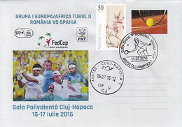 SPORTS, TENNIS, DAVIS CUP, ROMANIA- SPAIN GAME, SPECIAL COVER, 2016, ROMANIA - Tennis