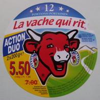 """Etiquette Fromage Fondu - Vache Qui Rit - 12 Portions Bel Pub """"Action Duo"""" Export   A Voir ! - Käse"""