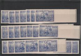 Série Coloniale Pierre Et Marie Curie    -  21 Valeurs  21 Colonies - 1938 Pierre Et Marie Curie
