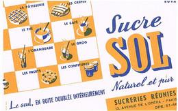BUVARDS SUCRE SOL NATUREL ET PUR             BU7 - Sucreries & Gâteaux