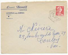 ARDECHE ENV 1959 LA CHAPELLE SOUS AUBENAS AGENCE POSTALE - 1921-1960: Periodo Moderno