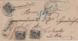 Serramanna. 1926. Annullo Guller SERRAMANNA (CAGLIARI), Su Lettera R Affrancata Michetti, Per TOBRUCH - Marcophilie