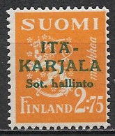 Karelia 1941. Scott #N11 (M) Arms Of The Republic - Local & Private