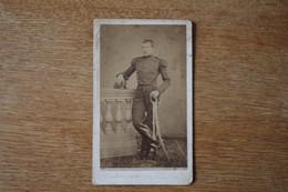 Cdv  Armée Française  Second Empire  L'artilleur Monté Siège De Metz ? 1870 - Guerra, Militari