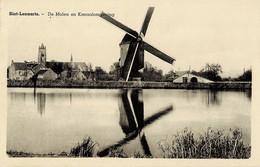 Sint-Lenaarts De Molen En Kanaalomgeving Circulée En 1953 - Brecht