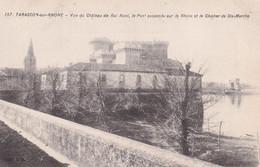 13  Tarascon    Vu Du   Chateau  Du Roi Rene ,le Pont Suspend  Sur Le Rhone Et Le Clocher  De Sainte Marthe - Tarascon