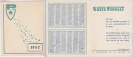 CALENDRIER KALENDER SACIC PIRELLI 1952 - Kalender