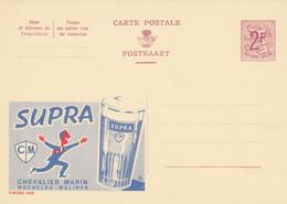 Carte Entier Postal Publibels 1858 Supra Chevalier Marin Mechelen Malines - Postwaardestukken