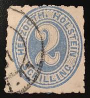 Schleswig-Holstein Mi 24 Holstein 1865 2 S Gestempelt (used Denmark Danemark Dänemark - Schleswig-Holstein