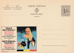 Carte Entier Postal Publibels 1378 électricité Bon Marché - Postwaardestukken