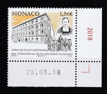 Monaco 2018 : LUXE !!! - Frères Des écoles Chrétiennes De Monaco - Neuf** - En Coin Daté - - Ungebraucht