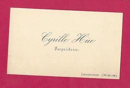 Ancienne CARTE De VISITE.. Cyrille HÜE, Propriétaire à LENGRONNE ( Manche 50) - Cartoncini Da Visita