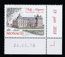 Monaco 2018 : LUXE !!! - N° 3144 - Anciens Fiefs Des Grimaldi - Chilly-Mazarin - Neuf** - En Coin Daté - - Ungebraucht