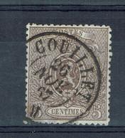 Belgique - 1866-67 - N° 25 Oblitération Couillet - Dentelé 14 - - 1866-1867 Coat Of Arms