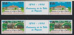 """Polynésie YT 358A & 359A Paire Vignette """" Ville De Papeete """" 1990 Neuf** - Polinesia Francese"""
