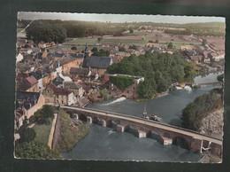 CP (72) En Avion Au Dessus De ... Pont-de-Gennes - Pont Romain Et Vieux Moulin - Other Municipalities