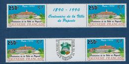 """Polynésie YT 359a 2 Paires 2 Vignette """" Ville De Papeete """" 1990 Neuf** - Polinesia Francese"""