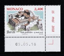 Monaco 2018 : LUXE !!! - ANCIENS FIEFS DES GRIMALDI : BARDI - Neuf** - En Coin Daté - - Ungebraucht