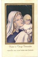 EN 1948 PUISSE LA VIERGE IMMACULEE SOUVENIR BERNARD ESCUDIE SACREMENT DE BAPTEME IMAGE PIEUSE HOLY CARD SANTINI PRENTJE - Imágenes Religiosas