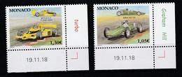 Monaco 2019 : LUXE !!! - N° 3171 & 3172 - Voitures Mythiques (BRM P57 V8 & RENAULT TURBO) - Neuf** - En Coin Daté - - Ungebraucht