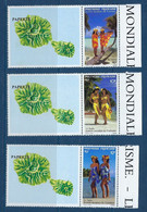 """Polynésie YT 365 à 367 Avec Vignette Ile """" Tourisme """" 1990 Neuf** - Polinesia Francese"""