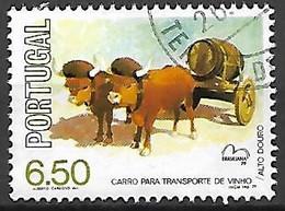 PORTUGAL    -    1979  .  Y&T N° 1435 Oblitéré .  Charrette à Boeufs Pour Le Transport Du Vin. - Nuovi