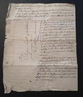 Lettre Vieux Document Pour Citoyen La Celle Villebaton  Commune D'Hem L'an 9 Avril 1778 - 1701-1800: Voorlopers XVIII