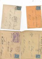 10 Enveloppes Parthenay 1886/1887 Niort Gare 1886 Niort 1887x2 1888 Issoudun 1887x2 Sousa Tunisie 1887 - 1877-1920: Semi Modern Period
