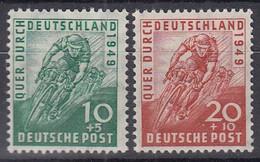 AllBes. BiZone 106-107, Postfrisch **, Radrennen 1949 - American/British Zone