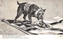 Thème:   Guerre 14/18    Chien Bull Dog Dévorant Un Pavillon Pirate          ( Voir Scan) - Weltkrieg 1914-18