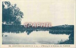 CPA Montceau Les Mines (S & L) L'Etang Et Le Chateau Du Plessis - Montceau Les Mines