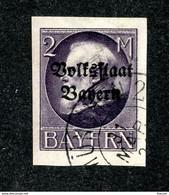 W6862  Bavaria 1919  Scott #171 (o)  - Offers Welcome - Bavaria