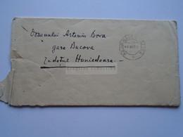 ZA330.18  Romania Cover Cancel 1926 Babeni VALCEA - Sent To Artemiu Bora  Gara Bucova  Hunedoara  Letter With   Content - 1918-1948 Ferdinand, Charles II & Michael