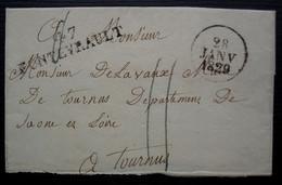 47 / FONTEVRAULT 47 X 11 1829, Taxe 11 Sans Correspondance, Lettre Incomplète ? - 1801-1848: Precursores XIX