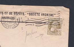 N° 75 PERFORE / Lettre De La Firme Caisse Generale De Reports Et De Depot Vers * Proven * Depot Relais - 1905 Grosse Barbe