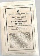 30 09/  14//   ° IEPER 1763 + 1850   JEAN INNONCENT ANTONY - Religion & Esotérisme