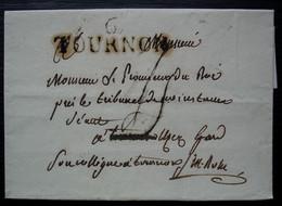6 / TOURNON 39 X 12 Lettre Sans Date Et Sans Correspondance Pour Uzès - 1801-1848: Precursores XIX