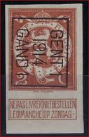 Nr. 109  Typo 51 B GENT I 1914 GAND I - ONGETAND / NON DENTELEE * MH  ; Staat Zie Scan ! - Typo Precancels 1912-14 (Lion)