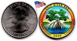 USA - Quarter Dollar - 2020 P (Salt River Bay  - Color) - 2010-...: National Parks