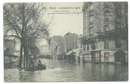 CPA PARIS INONDATIONS DE 1910 / AUTEUIL RUE GROS - La Crecida Del Sena De 1910