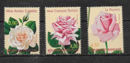 FRANCE - Yvert  N° 3248 à 3250 **  Congrès Mondial Des Roses Anciennes à Lyon - Neufs