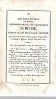 30 09/  16//  °  WESTNIEUWKERKE 1777  + YPEREN 1846   JOSEPHUS DE BRUYNE - Religion & Esotérisme