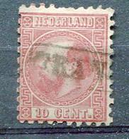 P-B 1867 Yv. N°  8a  Dentelé 10 1/2 X 10   (o)  10c  Guillaume III Cote  5 Euro BE R  2 Scans - Gebraucht