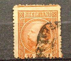 P-B 1867 Yv. N°  9     (o)  15c  Guillaume III Cote  37,5 Euro BE R  2 Scans - Gebraucht